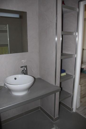 Salles de bains angelo paganessi r habilitation - Enduit mur salle de bain ...